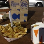 white castle & garlic fries